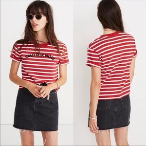 Madewell Striped Ciao For Now Tee Shirt